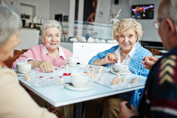 Pastime in cafe - Stock Photo - Images