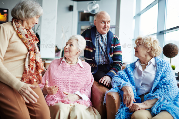 Gathering of seniors - Stock Photo - Images