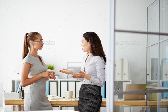 Talk of businesswomen - Stock Photo - Images