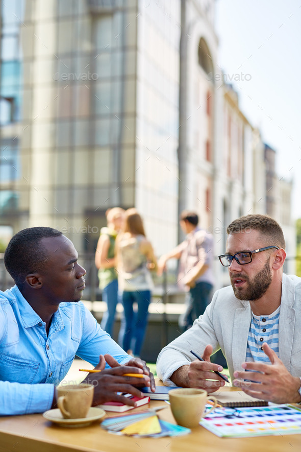 Conversation of men - Stock Photo - Images