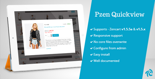 Pzen Quick View for Zencart - CodeCanyon Item for Sale