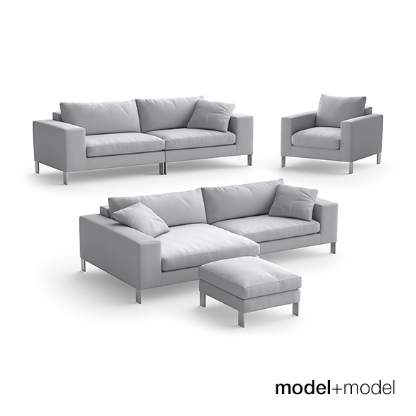 Linteloo Plaza sofas and armchair - 3DOcean Item for Sale