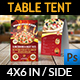 Pizza Restaurant Table Tent Template Vol.2 - GraphicRiver Item for Sale