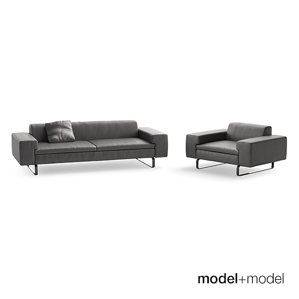 Arflex Moods sofa and armchair - 3DOcean Item for Sale