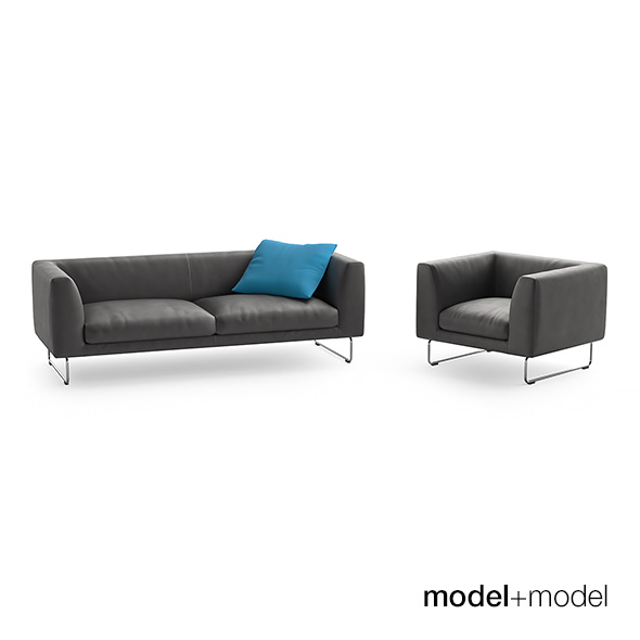 Cappellini Elan sofas and armchair - 3DOcean Item for Sale