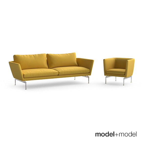 Vitra Suita sofa and armchair - 3DOcean Item for Sale