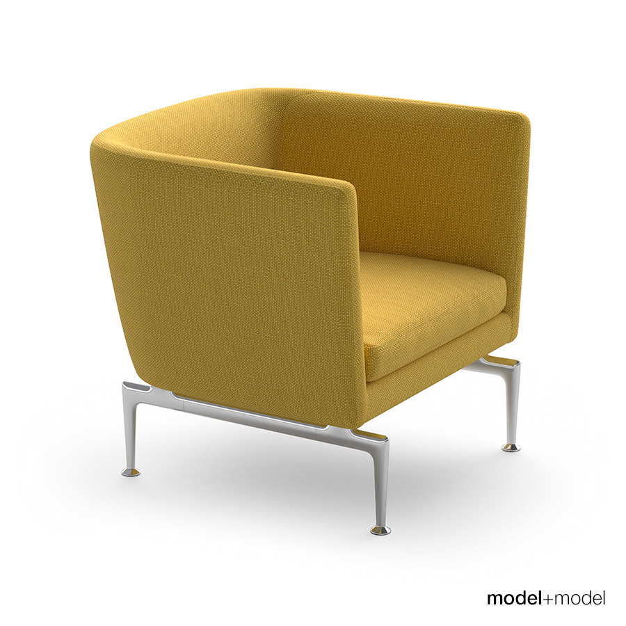 Vitra Suita Sofa And Armchair By Modelplusmodel 3docean