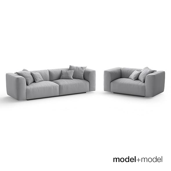 MDF Italia Mate Sofa and armchair - 3DOcean Item for Sale