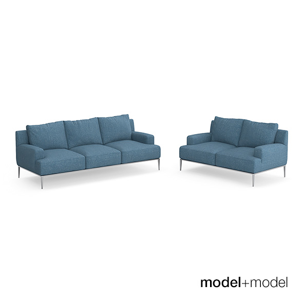 B&B Italia Jean sofas - 3DOcean Item for Sale