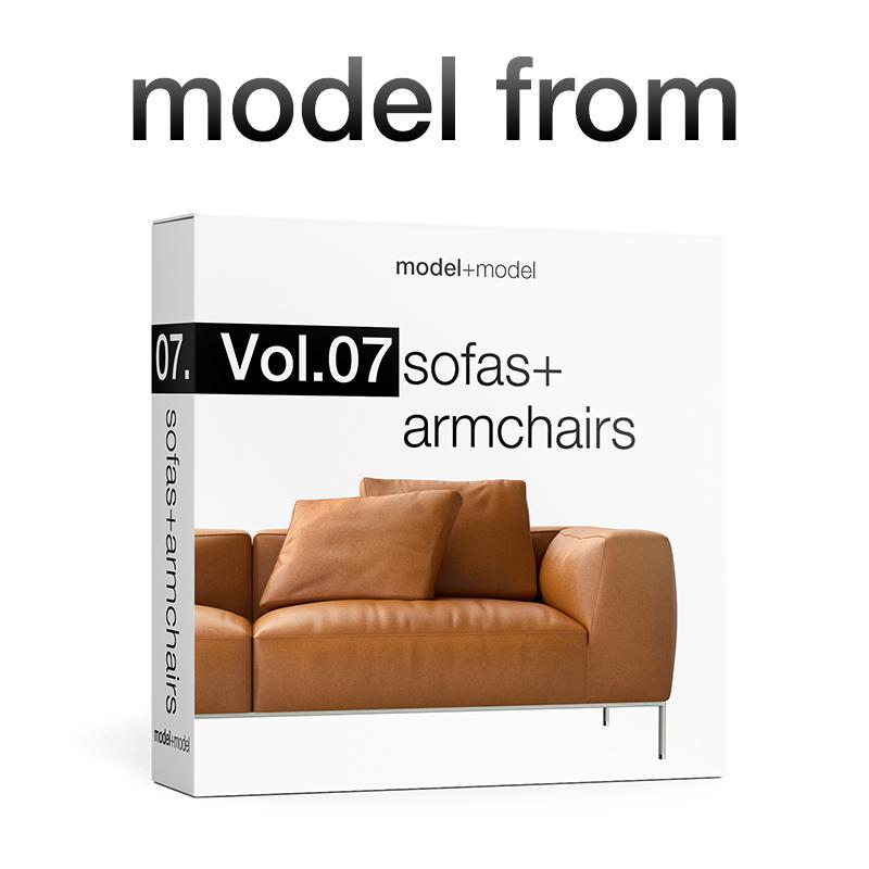 b b italia jean sofas by modelplusmodel 3docean