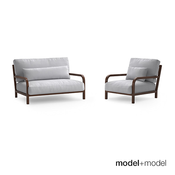 Linteloo Dario sofa and armchair - 3DOcean Item for Sale