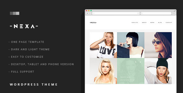 NEXA - Portfolio & Business sliding WordPress Theme - Creative WordPress