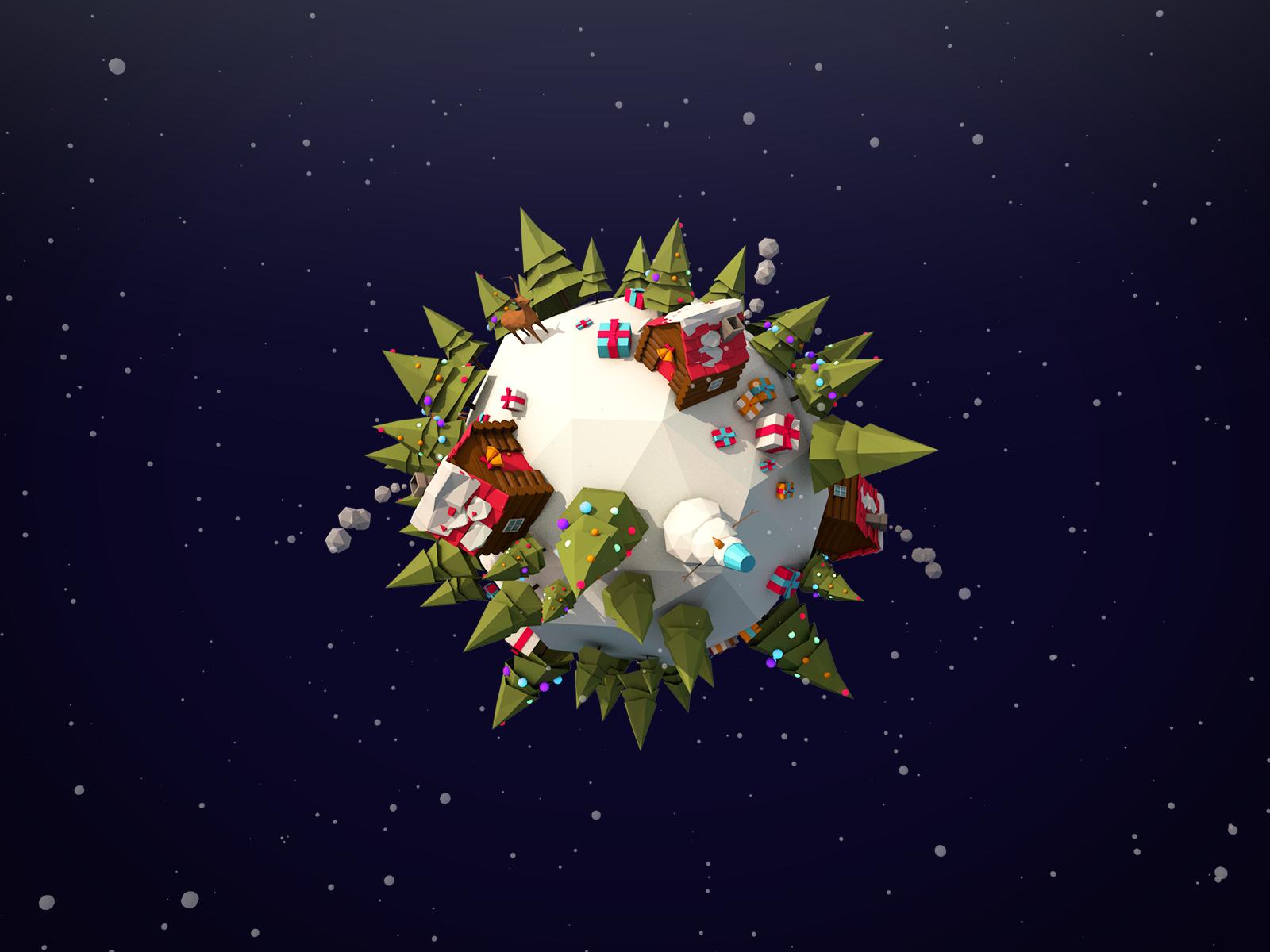 Christmas Planet By Antonmoek 3docean