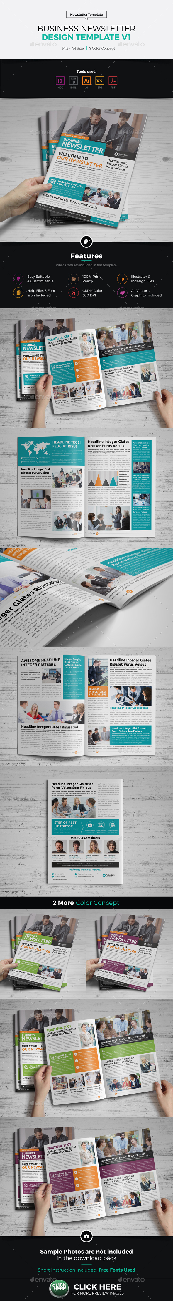 Newsletter Design Template - Newsletters Print Templates