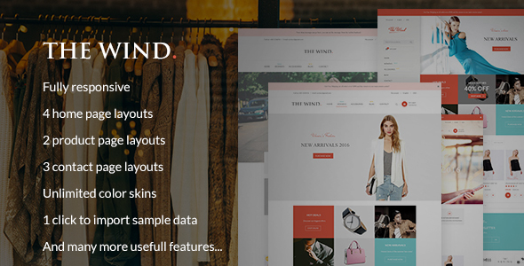 The Wind - Responsive Prestashop Theme - Fashion PrestaShop