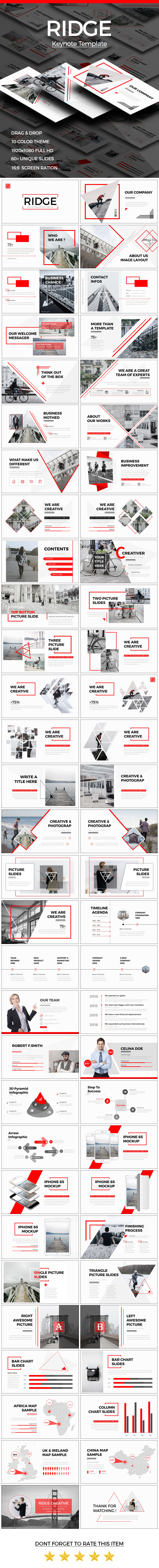 RIDGE - CREATIVE Keynote Template - Creative Keynote Templates