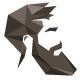 Edgy Beard Hipster Logo