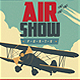 Vintage Airshow Party Poster - GraphicRiver Item for Sale