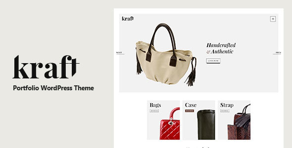 Kraft – Simple Portfolio WordPress Theme