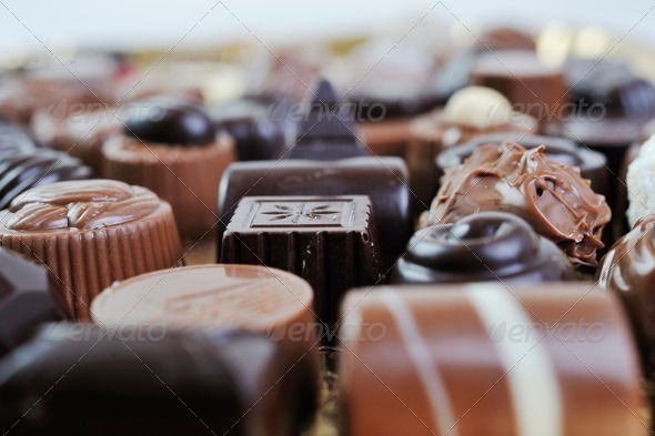 chocolate and praline - Stock Photo - Images