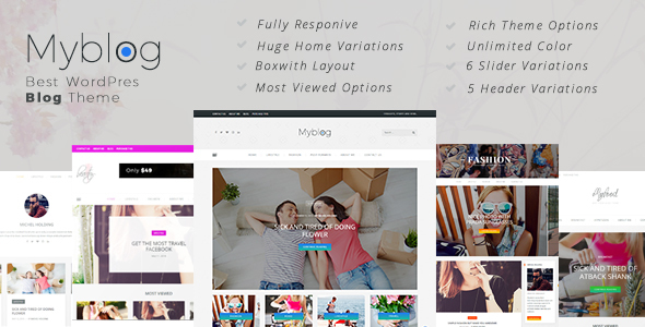 Responsive WordPress  Blog Theme - Personal Blog / Magazine