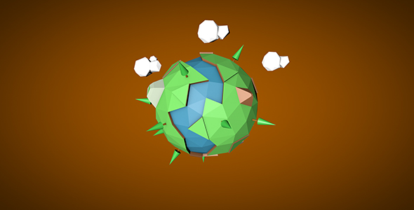 Low Poly Earth 3D Design - 3DOcean Item for Sale