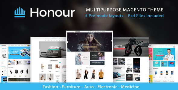 Honour - Multipurpose Responsive Magento2 Theme | Fashion Furniture Auto & Electronics & Medicine - Magento eCommerce