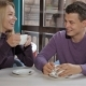 Couple Flirts At The Cafe - VideoHive Item for Sale