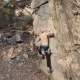 Shirtless Young Man Rock Climbing - VideoHive Item for Sale