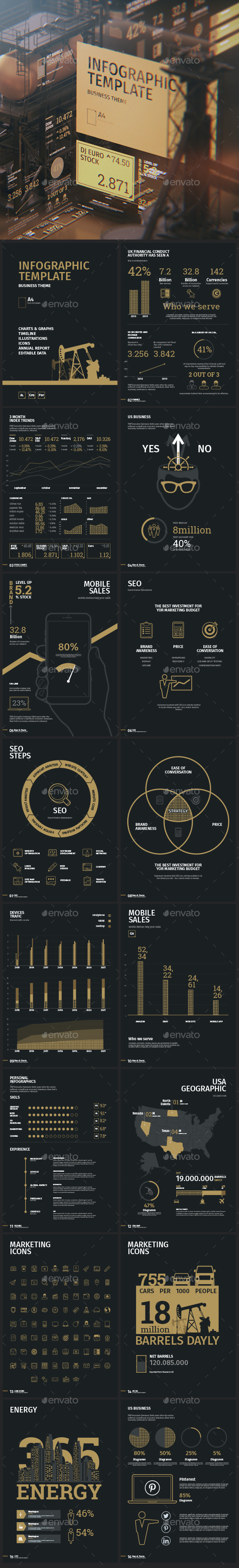 Business infographic template - Infographics