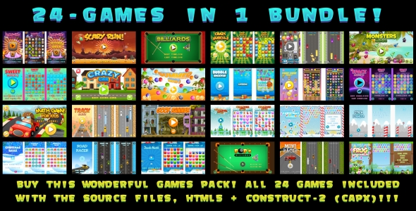 24-GAMES IN 1 BUNDLE! (CAPX) - CodeCanyon Item for Sale