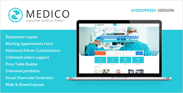 Medico - Medical & Health WordPress Theme - Health & Beauty Retail