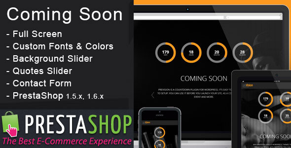 Coming Soon / Maintenance - PrestaShop Module - CodeCanyon Item for Sale