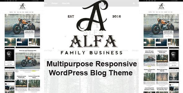 Alfa - Multipurpose Responsive WordPress Blog & Magazine Theme