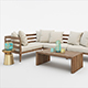 WEST ELM JARDINE OUTDOOR FURNITURE SET - 3DOcean Item for Sale