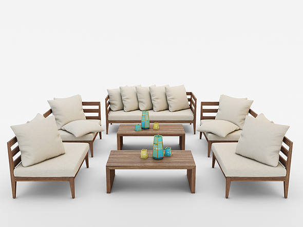 West Elm Jardine Outdoor Furniture Set By Masvaxlab 3docean
