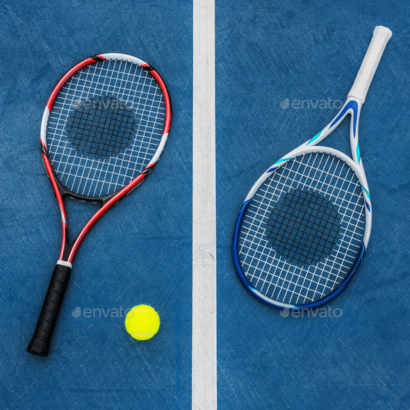 Racket Tennis Ball Sport Equipment Concept - Stock Photo - Images