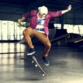 Boy Skateboarding Jump Lifestyle Hipster Concept - PhotoDune Item for Sale