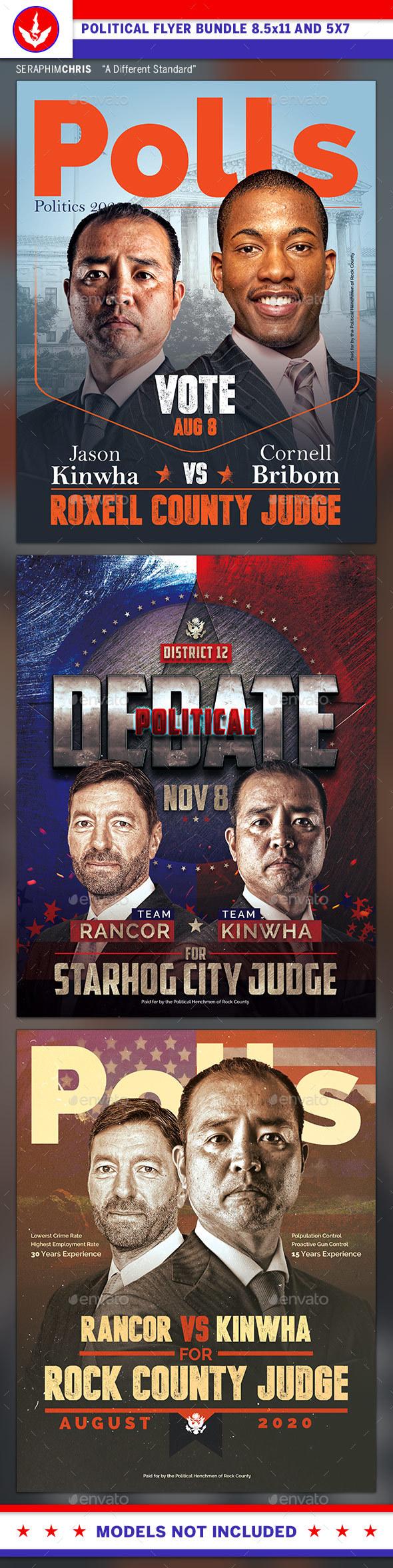 Political Campaign Flyer Graphics Designs Templates