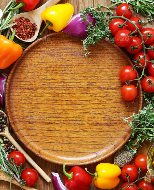 Herbs and Spices, Vegetables and Sauces - Stock Photo - Images