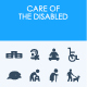 Care of the disabled icons - GraphicRiver Item for Sale