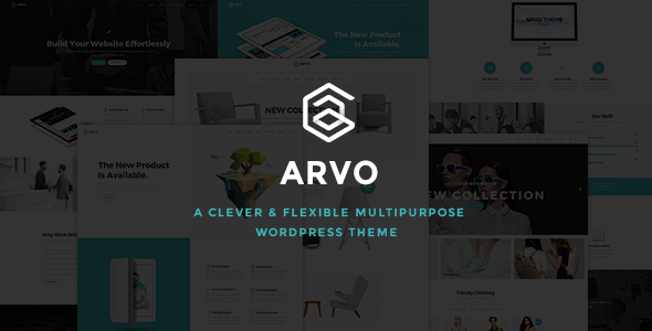 Arvo – A Clever & Flexible Multipurpose WordPress Theme