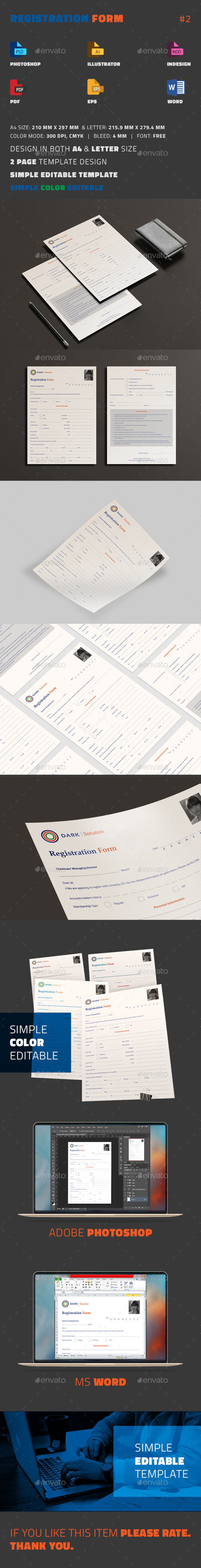 Registration Form by sanlife   GraphicRiver