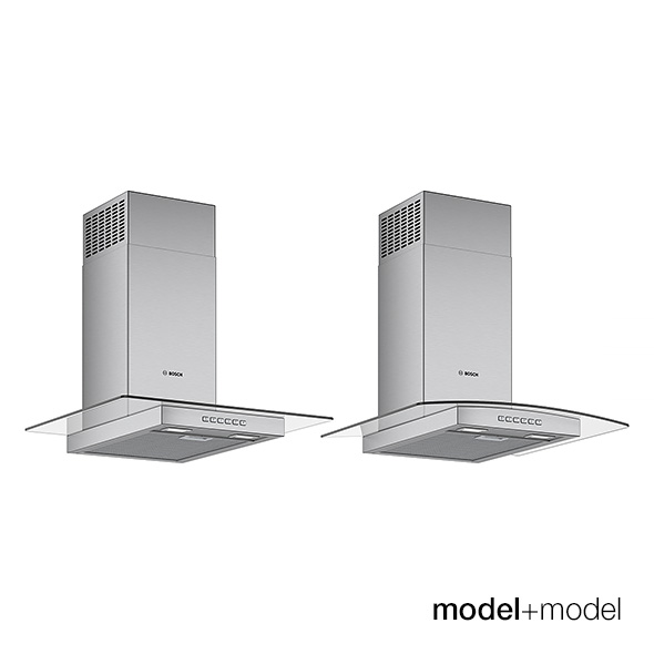 Bosch glass hoods - 3DOcean Item for Sale