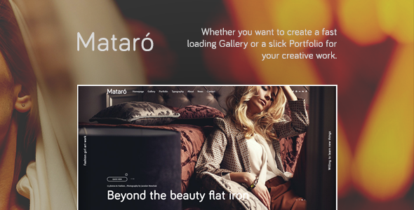 Mataro – Photography, Portfolio and Gallery WordPress Theme
