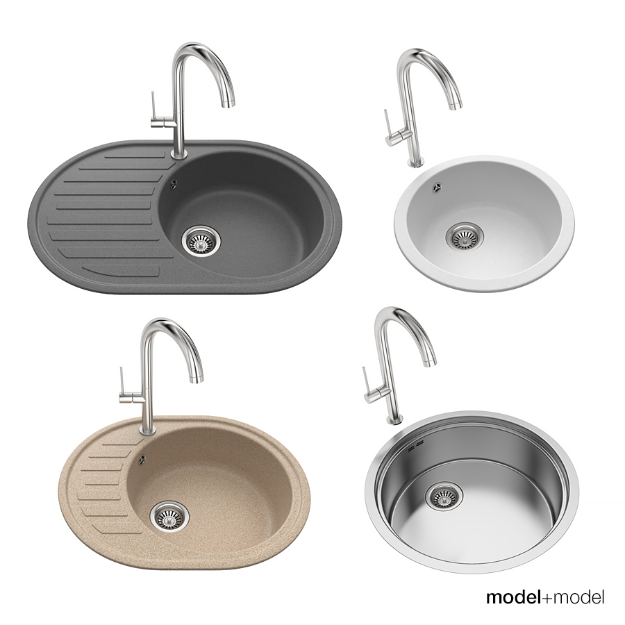 round kitchen sinks 3docean item for sale mpm_vol10_p22_preview_900_01jpg. Interior Design Ideas. Home Design Ideas