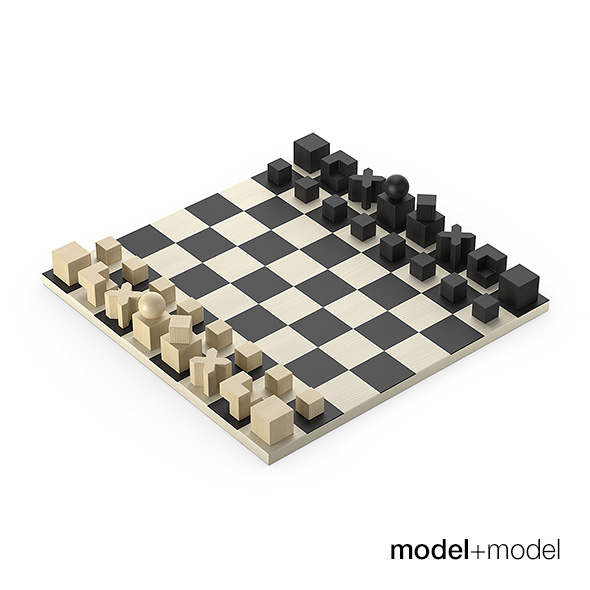 Bauhaus Chess set - 3DOcean Item for Sale