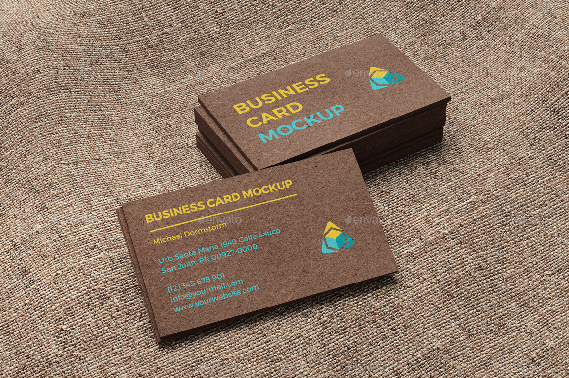 kraft paper business card mockup business cards print 1jpg - Kraft Paper Business Cards