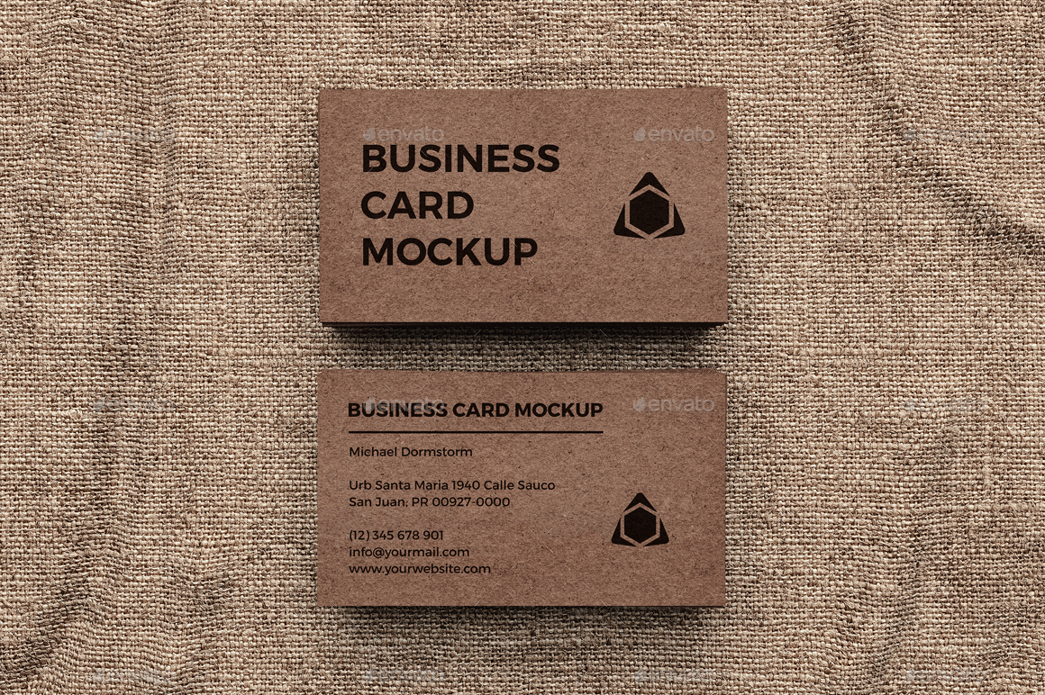 kraft paper business card mockup by aykutfiliz