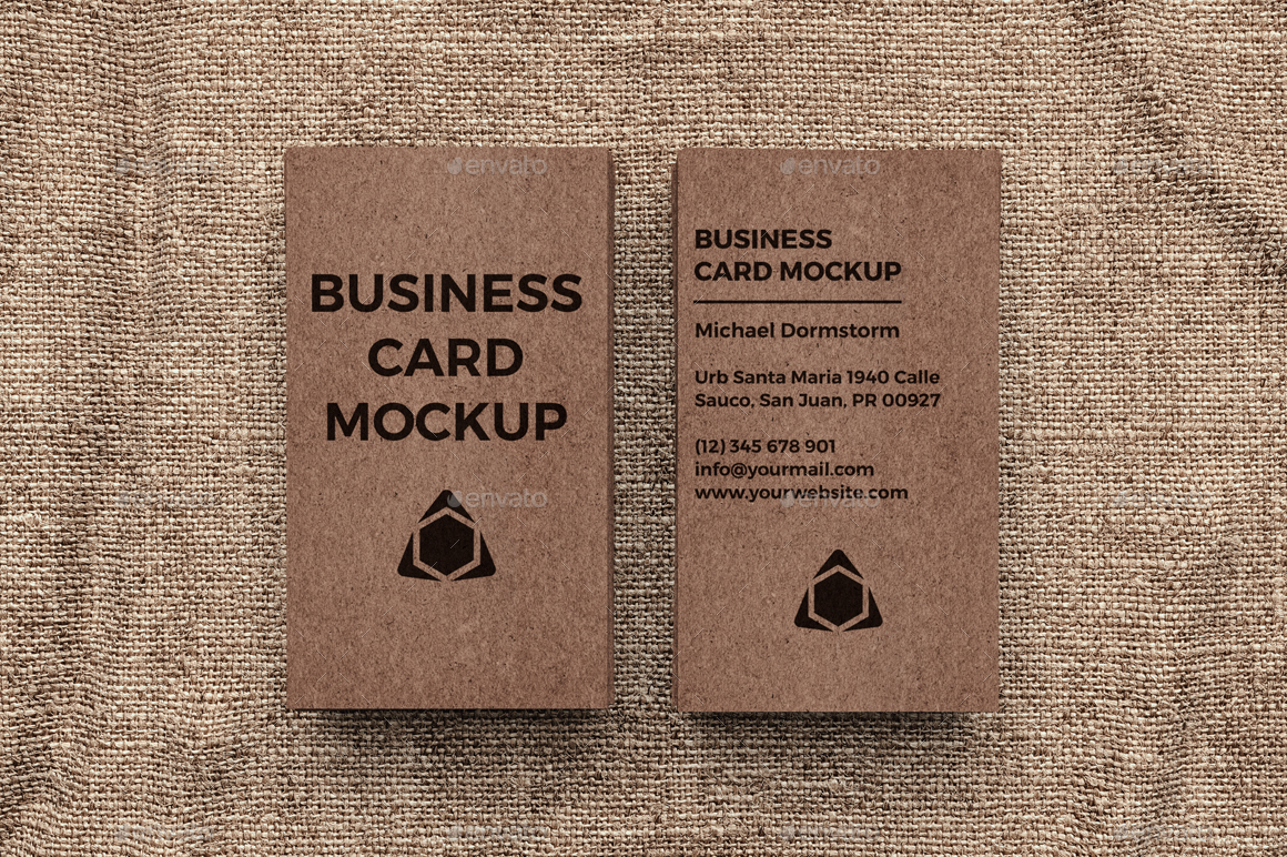 Kraft paper business card mockup by aykutfiliz graphicriver kraft paper business card mockup business cards print 1g 2g 3g 4g 5g reheart Images